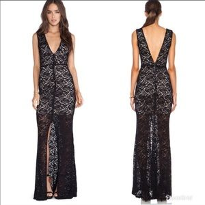 Alice and Olivia Mia Front slit gown 10